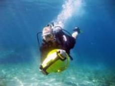Diver Propulsion Vehicle Fun - one of Dive In's fleet of 6
