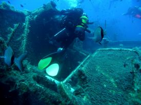 100th Dive on The Zenobia