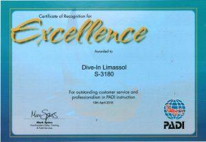 PADI Excellence Award